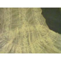 Vestido De Encaje Frances Muy Antiguo Hecho A Mano