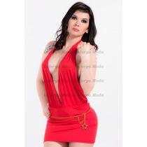 Vestido Corto Escote Marylin Super Sexy! Rojo Pasion