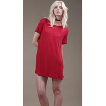 Vestido Corto Evasé Con Mangas Rojo Tifanny Drole