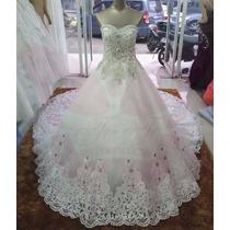 Vestido De Novia Crystal Swarov C/cola1.5(directo China)#110