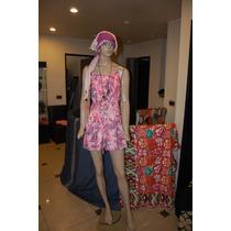 47 Street Vestido De Algodon Color Rosa Floreado