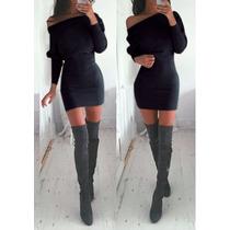 Vestido - Corto- Modal Con Lycra - Invierno- Mangas Largas