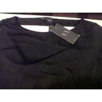 Vestido Corto Armani,manga 3/4,entallado,color Negro,.