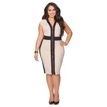 Vestido Importado Combinado Ashley Stewart Talle Especial