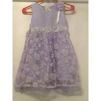Vestido De Fiesta Nena Importado Seda Y Chiffon 1 Postura