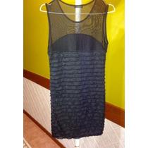 Vestido Fino De Dama Con Transparencia Negro Importado!!!