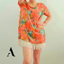 Vestido Corto Remeron Primavera-verano. Acasia