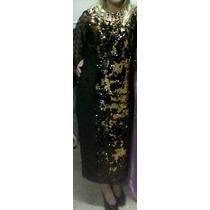 Espectacular Vestido De Fiesta Alta Costura - Negro Y Dorado