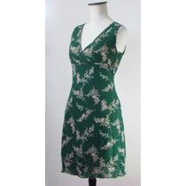 Divino Vestido John L Cook Viscosa Verde Botella-flores-m
