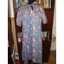 Retro Vintage Años 70 Vestido Talle L Floreado