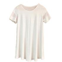 Clippate Vestido Remeron Modal Blanco Y Negro Mangas Tul