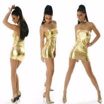 Natasja Mini Vestido Straples Metalizado