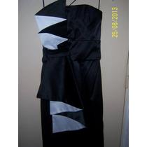 Elegante Vestido Las Oreiro - Talle 1 - Color Negro Y Blanco