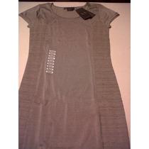Vestido Armani,corto Y Entallado,color Beige(arena),small.