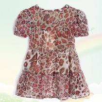 Vestido Importado De Gasa Leopardo
