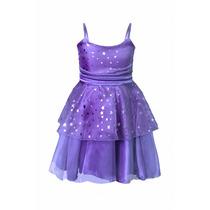 Vestido De Nena De Organza Con Estrellitas, N-0030