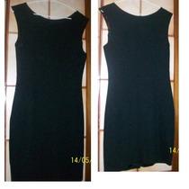 Vestido Negro Talle 2 - Medium (marca Drugstore)