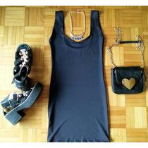 Vestido Corto De Lycra Negro - Un Infaltable! Noche, Fiestas