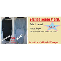 Vestido Negro Y Gris. Talle 1 - Small (marca Lupe)