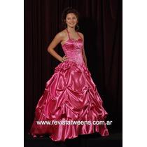 Vestido De 15 Años Rosa Hecho Novias Nanci