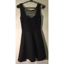 Vestido Negro De Encaje Y Espalda Descubierta De H&m