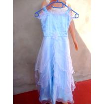 Vestido De Fiesta Seda Y Organza Para Nena De 8 A 10 Años