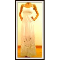 Vestido Largo Blanco Importado Vs Modelos