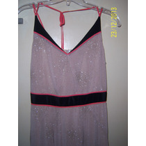 Elegante Vestido Vitamina Nude Y Destellos Simil Las Oreiro