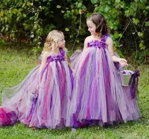 Como hacer vestidos de tul para niña - Imagui