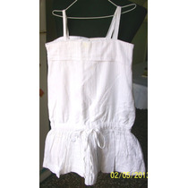 Vestdo Blanco Lineas Plateadas. Talle 7 - 8 Años. Marca Zara