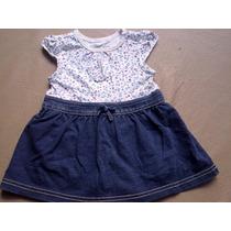 Vestido Pañalero C/falda Jean - Importado