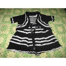Vestido Bebe Con Bolerito - De 3 A 10 Meses - Crochet