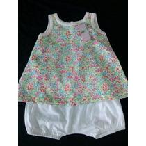 Vestidos Para Bebes Bombachudo 100% Algodon Estampado