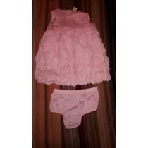 Hermoso Vestido De Fiesta De Nena (12 Meses) Nuevo!!!