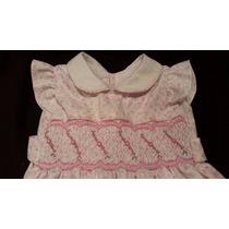 Vestido Elegante De Fiesta Bautismo Para Beba 9 12 Meses