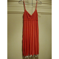 Vestido Playero Reversible - ( Rojo Y Natural ) - Talle M