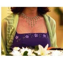Hermoso Vestido De Fiesta Violeta Con Flores Pintadas A Mano