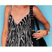 Vestido H&m Gasa Cebra Animal Print Importado