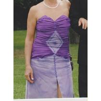 Vestido De Madrina O Fiesta Violeta Y Lila. Talle 2