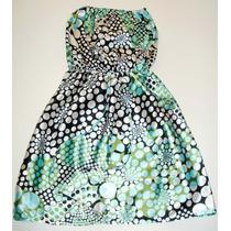Vestido De Raso Strapless, Impecable!!