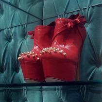 Botinetas Las Oreiro - Disponibles En Número 40 - Rojas
