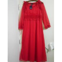 Vestido Fiesta Noche Rojo Nuevo A Estrenar Diseño T M Regalo