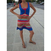 Vestido Diseño Independiente -vibra Positiva Modal Con Lycra