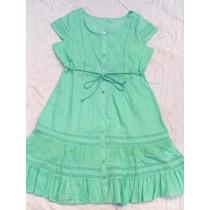 Vestido Verde Claro Bordado Nuevo Talle Xl