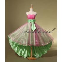 Precioso Vestido De Fiesta 15 Años Importado - Envío Gratis