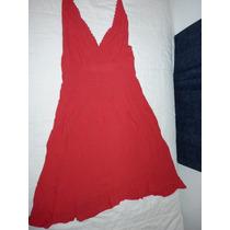 Espectacular Vestido De Bambula Rojo Esc Marilyn A Estrenar