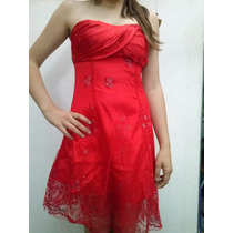 Vestido Corto Strapless De Raso Y Tul... De Excelencia!!!