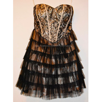 Vestido Strapless Fiesta Noche 15 Años Con Corset Y Cierre