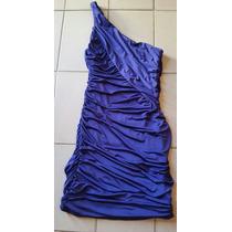 Vestido Drapeado Con Un Solo Hombro Color Violeta. Bello!!!
