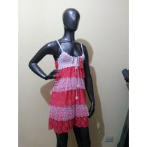 Vestido De Encaje Con Volados - Con Tull Y Tejido A Crochet